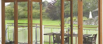 Oak Veneer Folding Doors