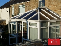 Mr & Mrs Spinks, Stanley - Tapco slate Thermolite roof BEFORE