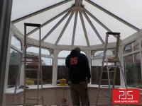 Hadrian Park, Newcastle - Internal Insulation Conversion with pelmet bulkhead BEFORE